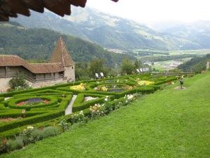 Gruyeres Chateau garden