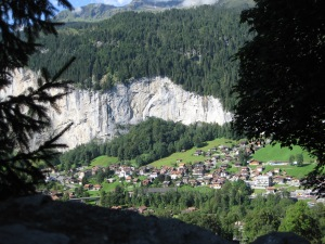 Lauterbrunnen below, from trail to Wengen