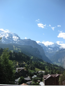View from Wengen rail station