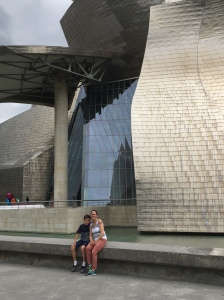 E and Shelly at Guggenheim, Bilbao