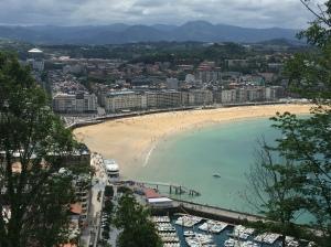 La Concha beach from Monte Urgull